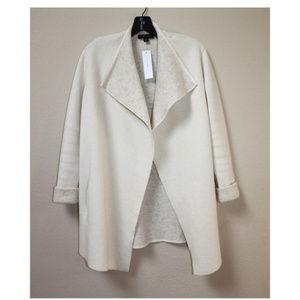 Ann Taylor Wool Cashmere Sweater Cardigan Jacket